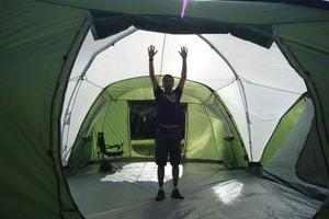 Tent tourist - a convenient shelter from natural factors