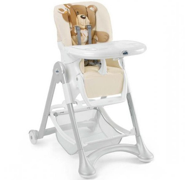 Chairs for feeding Cam: an overview of the manufacturer and the most popular models