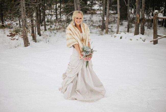 How to choose a winter wedding dress? Views and Photos