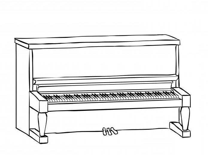 How to draw a piano: instruction